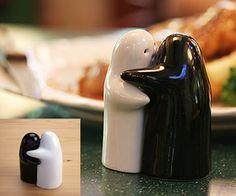Hugging Salt & Pepper Shakers- http://www.awesomeinventions.com/shop/hugging-salt-pepper-shakers/