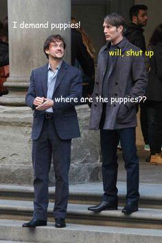 Hannibal: Will Graham demands puppies!