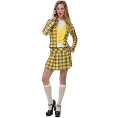 Women's Notionless Valley Girl Costume (Small As if! Our notionless Valley Girl costume will leave you in search of a clue. But while you're clueless you won't be without a great costume this Halloween. Cher Clueless Costume, Cher Costume, Clueless Halloween Costume, Easy College Halloween Costumes, Easy Costumes, Halloween Outfits, Girl Costumes, Adult Costumes, Costumes For Women