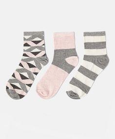 Lot de trois paires de socquettes colorées - OYSHO