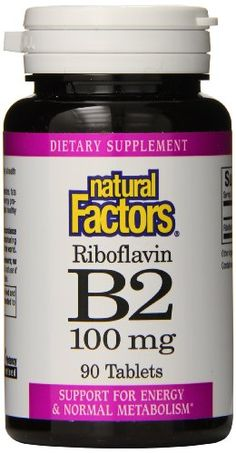 Natural Factors Vitamin B2 Riboflavin 100mg Tablets, 90-Count ** Check out the image by visiting the link.