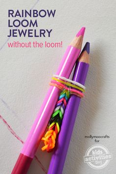 Make Rainbow Loom Jewelry - Without A Loom. So Easy & Cool