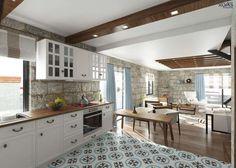 mediterrane Küche von ROAS ARCHITECTURE 3D DESIGN - homify / ROAS ARCHITECTURE 3D DESIGN