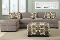 Just got a sweet deal on this cute tweed-esque couch on ebay. It is now mine :)    (ugly pillows & ottoman not included! LOL)