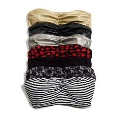 DIY: Bandeau bras. These can double as an undershirt for tops that show too much cleavage for comfort. They are also more comfortable than tanks and bras during the 'sweaty' months....