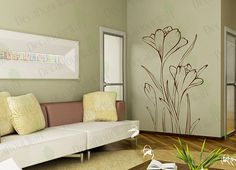 Hey, I found this really awesome Etsy listing at http://www.etsy.com/listing/102906940/floral-wall-decals-flower-wall-art-home