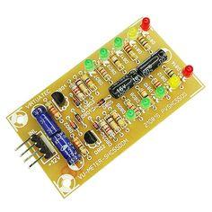 Placa p/ montar Vu Meter SHC5500M - 2x5 Leds -  Barra - Stereo.