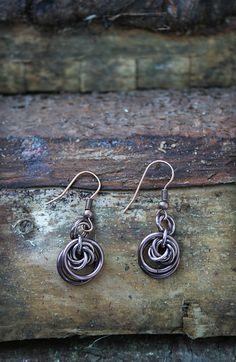 XnPurple's handmade jewelry blog  chainmail, chain, handmade, jewelry, fashion, earrings