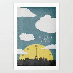 Midnight In Paris Art Print by Travis English - $16.64
