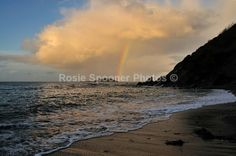 Rainbow over Looe island - Looe in  Cornwall