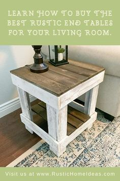 Farmhouse End Tables, Rustic End Tables, Diy End Tables, Rustic Farmhouse, Side Tables, Country Living Decor, Rustic Living Room Furniture, Wood Furniture, End Tables With Drawers