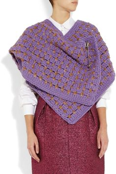 Marc Jacobs   Hand-crocheted wool-blend scarf   NET-A-PORTER.COM  Super easy project - may give it a go this winter