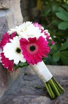 Gerber daisy bouquet - would love to do this with yellow ones.