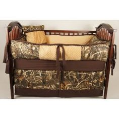 Realtree Max-1 Camo Crib Bedding Set - Oh no, where'd the baby go?