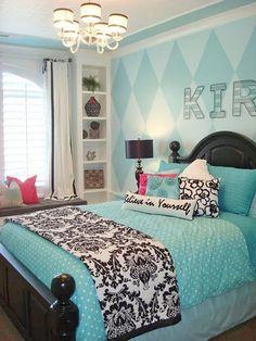 teenage-girl-bedroom-ideas Inspire Believe in yourself www.inspireandmake.com