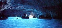 Found on the Italian island of Capri, the Blue Grotto is a soft limestone cave suffused by an eerie blue light. Its the sunlight outside the cave reflecting off the white cave floor. Roman emperors supposedly used the grotto as a private bath.