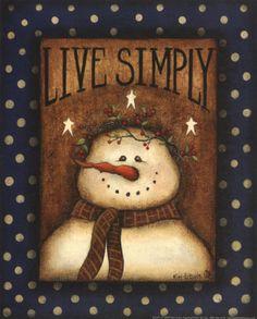 *SNOWMAN ~ *Kim Lewis, Live Simply*