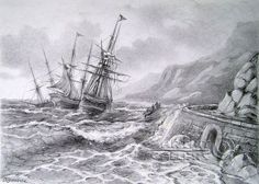 pencil drawings of landscapes | Pencil drawings. Drawing. Strong wind. Kulagin Oleg
