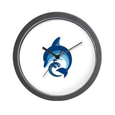 Dolphin pint products Wall Clock