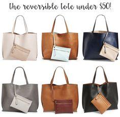 Budget Friendly Pick: Reversible Tote Bag Under $50! | by LivvyLand Tote Handbags, Purses And Handbags, Leather Purses, Leather Handbags, Ankara Bags, Reversible Tote Bag, My Bags, Handbag Accessories, Bag Making