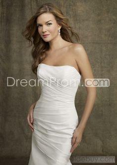 US $166.29 Mermaid Strapless Chapel train Satin wedding dress for brides 2014 style(2014WD423)