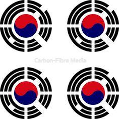 Korea 1.0 | #Korea #korean #patriot #seoul #hanguk #flag #flags #stickers #pride #patriotic #patriotism #onjenayo #redbubble #trigrams #trigram