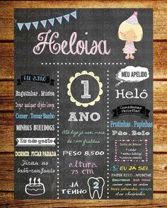 Chalkboards de aniversário!