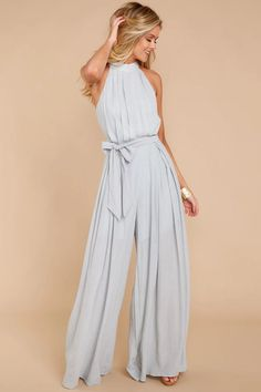 Dressy jumpsuit outfit - Pass On By Grey Jumpsuit – Dressy jumpsuit outfit Jumpsuit Dressy, Jumpsuit Outfit, Prom Jumpsuit, Summer Jumpsuit, Romper Pants, Pants Outfit, Bridesmaid Rompers, Bridesmaid Gowns, Romper Outfit