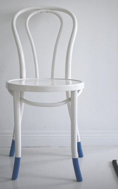 Paint chairs white, dip legs in a color