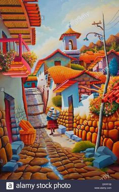 South American Art, Native American Art, Mexican Paintings, Peruvian Art, Mexico Art, Southwest Art, Naive Art, Mexican Folk Art, Bunt