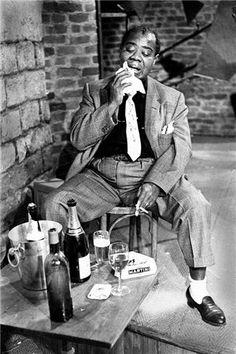 Herman Leonard | Louis Armstrong, Paris Blues Set, Paris, France, 1960