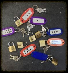 EYFS number. Lock and keys. Good for matching objects to numerals