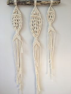 NEW LISTING ADDED. Check out these sweet macrame fish / Macrame Wall Hanging / Natural Home Decor / Nursery Decor / Beachy Wall Hanging / Boho Wall Hanging / Simple Macrame Wall Hanging
