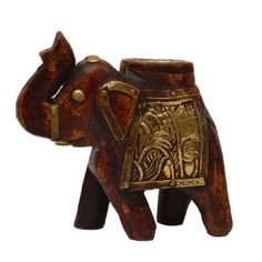 Amazon.com: Home Decorating Ideas Royal Indian Elephant Wooden Wall Art: Home & Kitchen