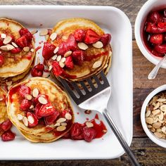 Win Mother's Day with These Roasted-Strawberry Pancakes