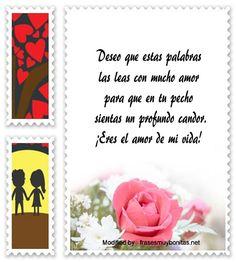 frases románticas para mi novia,mensajes de amor para mi novia: http://www.frasesmuybonitas.net/textos-de-amor/