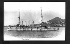 HMS Europa was a ship of the Diadem-class protected cruisers in the Royal Navy. In mission between Madeira and Canary islands from  August 1914 and January 1916(Em missão entre a Madeira e as Canárias entre Agosto de 1914 e Janeiro de 1916).