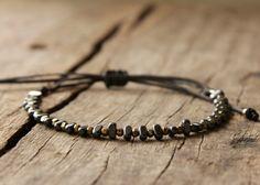 A personal favourite from my Etsy shop https://www.etsy.com/listing/516984914/gold-black-bracelet-hematite-bracelet