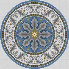 Round Oriental Susan Treglown mesh: dimension: 14 x 14 Just Cross Stitch, Cross Stitch Borders, Modern Cross Stitch Patterns, Counted Cross Stitch Patterns, Cross Stitch Designs, Cross Stitching, Cross Stitch Embroidery, Embroidery Patterns, Needlepoint Stitches