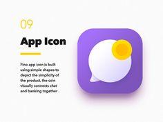 Fino Finance Messenger  App Icon by VisualRocks.co   #Design Popular #Dribbble #shots