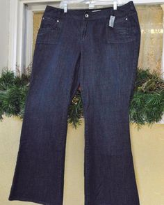 Venezia Lane Bryant Embellished Mid Rise Flare Jeans 20 Party Fun Stretch Plus…