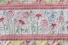 cute flower stitchery