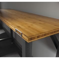 $309 Garage Works Gladiator 66.5-in Bamboo Workbench at Lowe's Canada. Great as a piece of furniture. Used it in the family room behind a couch. Sit there with my coffee and my laptop (Review).