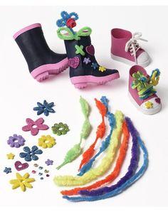 "Do It Myself™Shoe Design Decorating Kit - for 18"" Play Dolls"