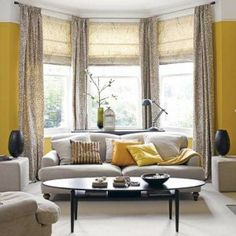 Minus The Yellow Walls Grey And Living Room Mustard