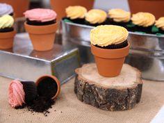 cupcakes de flor