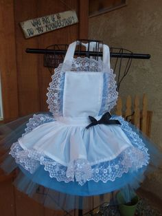 Ready to ship now. Alice in Wonderland Apron set Apron, Blue Tutu, Black hair Bow. ONLY 1 size ONLY - inspiration Princess Aprons, Princess Tutu Dresses, Flower Girl Dresses, Alice In Wonderland Costume, Alice In Wonderland Birthday, Black Hair Bows, Alice Costume, Baby Girl Dress Patterns, Kids Dress Up
