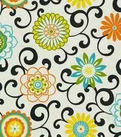 Home Decor Print Fabric- Waverly Pom Pom Play Confetti & fabric at Joann.com....it's my shower curtain!