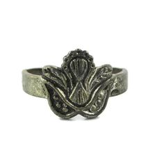 527a9a40735843 Coney Island Ring Silver tone Lucky Dip Ring  Coin Silver Ring  Size 9 -  Sheaves of Wheat Motif