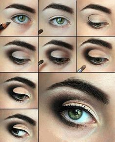 brown eye make-up